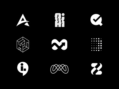 9 logos z m a type line design branding geometry vector abstract simple logo minimal symbol