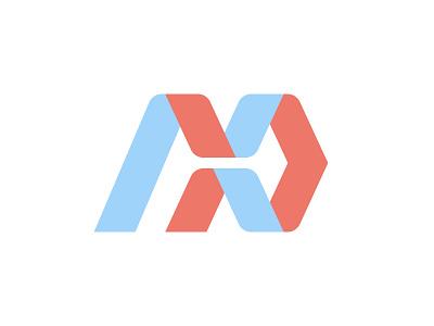 Magnexus magnexus typography logotype x n m design creative geometry type abstract minimal simple mark logo