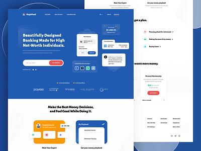 MagicFund - Landing Page saas landing page saas management fund finance exploration website design landing page ux web design minimal blue ui clean