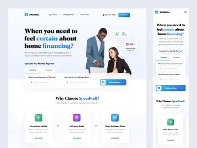 Speedwell-Dribbble business gradient dipa inhouse mortgage web app design ux landing page web design website minimal blue ui clean