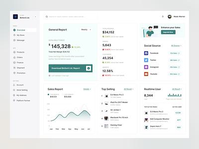 Bolt - Sales Dashboard dashboard web design clean ui minimal design green sales dashboard sales uiux dashboard design