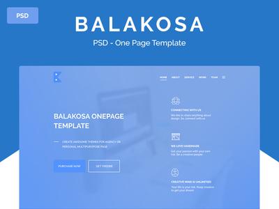 Balakosa – PSD One Page Template