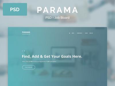 Parama – PSD Landing Page