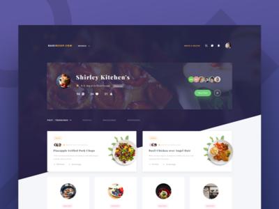 Exploration Recipe Profile Page