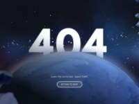 Daily UI #8 - 404 Page (Voltron)