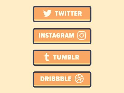 Twitch Panels flat vector illustration orange social media panels twitch panels twitch