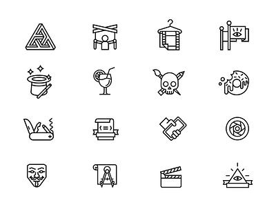 Icon concept concept illustrator icons illustrations set design vector catzwolf stroke line