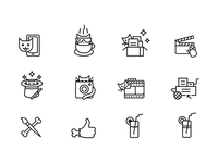 Line icons for site