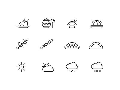 Sokolniki Park Icons minimal geometric stroke icons vector park sokolniki pictogram line icon