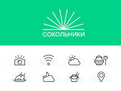 Sokolniki Park Icons geometric icon icons line minimal park pictogram sign sokolniki stroke vector
