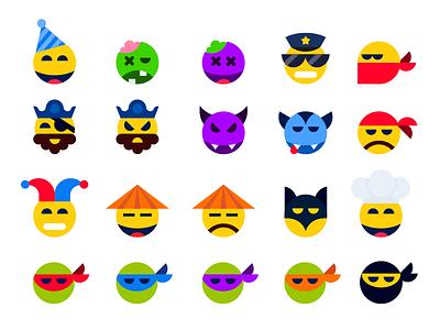 Emoticons. Stickerpack for mountpic messenger mountpic messenger icons flat sticker character emotions emoji emoticons app
