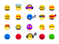 Emoticons. Stickerpack for mountpic messenger