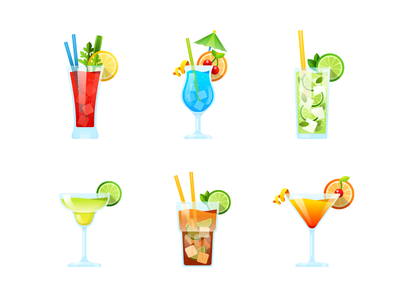 Cocktail party. Stickers for messenger. messenger illustration vector cosmopolitan cuba libre margarita mojito blue lagoon bloody mary party cocktail sticker