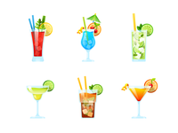 Cocktail party. Stickers for messenger.