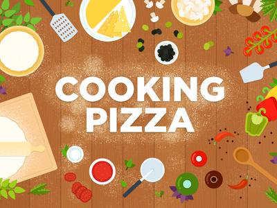 Cooking pizza ai vegetarian vegetables vector food illustrator illustration flat pizza