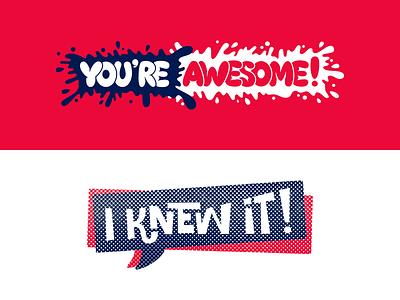 Small Talk Kit Stickers phrases lettering messenger vector stickerpack sticker flat illustration
