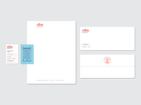 Siba Stationery branding logo envelope letterhead card business identity brand