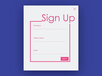 Signing Up signup 001 dailyui