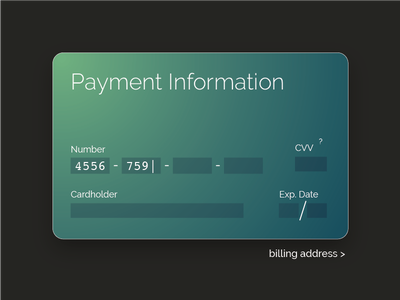 Daily UI - Credit Card Checkout form credit card creditcardcheckout 002 dailyui
