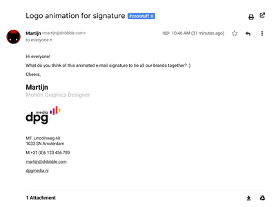 Animated signature logo animation vector dpg afx after effects e-mail signature logo animation