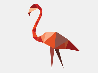 Flamingo flamingo triangles polygon logo triangle party