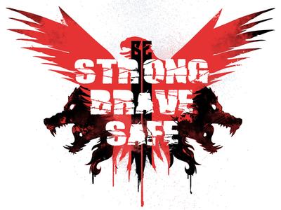 Grungy stuff krav krav maga black red drips angry grunge hydro74 vector wolf wolves eagle