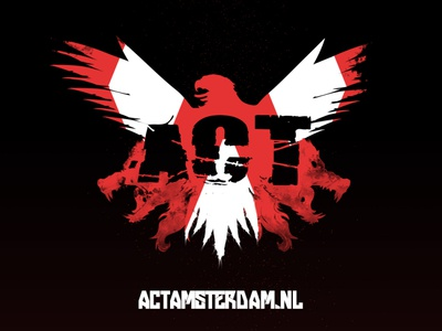 ACT Amsterdam training combat black white red photoshop adobe illustrator illustration eagle wolves wolf