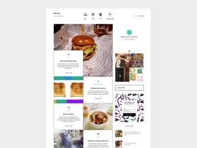 Experimental Blog Layout