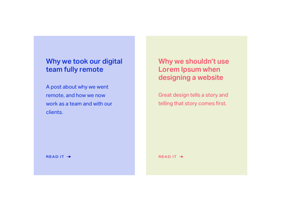 Journal Posts on Series Eight simple journal blog clean minimal ui