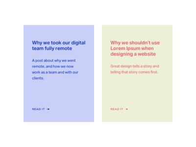 Journal Posts on Series Eight