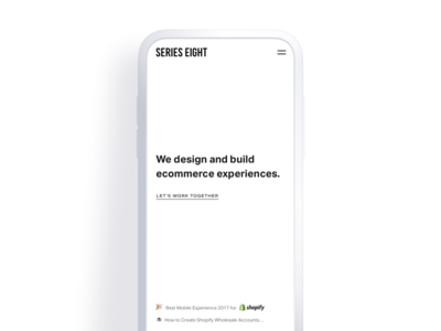 Minimal no-scroll homepage