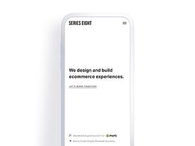 Minimal no-scroll homepage design studio digital agency typography simple clean minimal ui