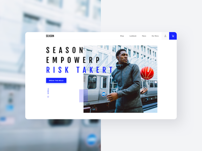 Season Basketballs ecommerce ui minimal clean typography bold