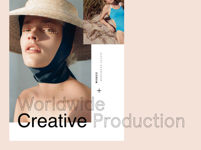 The Production Factory photography editorial gallery clean horiztonal minimal ui creative production