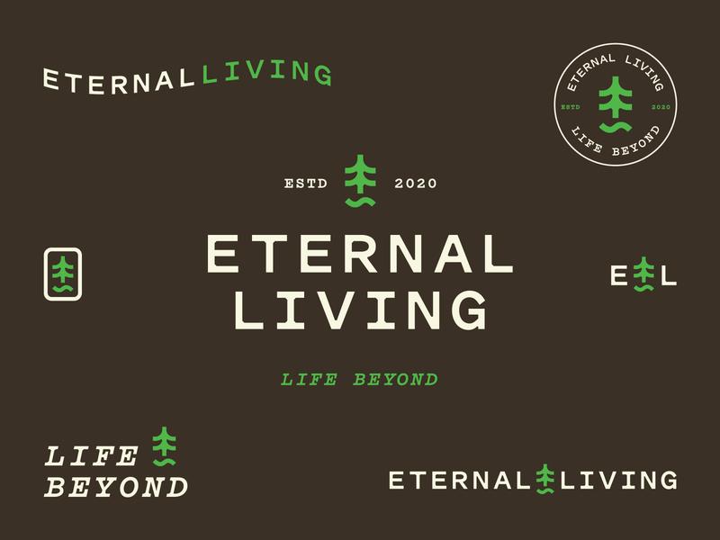 Eternal Living 2 vector typography logo iconography icon branding