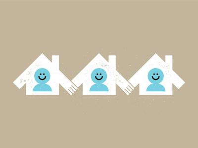 House Bound Together coronavirus vector iconography icon illustration