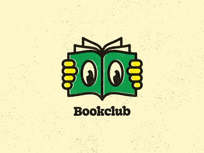Bookclub Icon reading book design typography vector iconography illustration icon