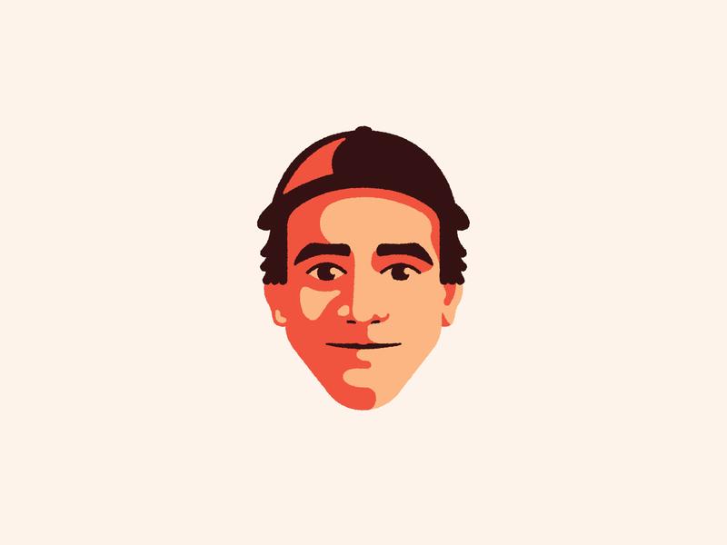 Self-Portrait Icon self-portrait avatar face design vector iconography icon illustration