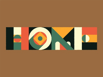 Home home texture design typography vector illustrated type illustration