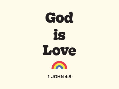 God is Love bible iconography icon design typography vector illustration