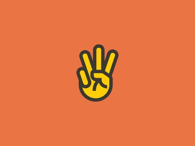 Westland Peace Fingers peace hand branding vector iconography icon illustration