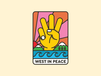 Westland - West In Peace western west branding design vector iconography icon illustration