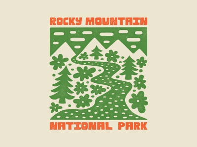 Rocky Mountain National Park Illustration rocky mountain national park rocky mountain illustrated type design illustration