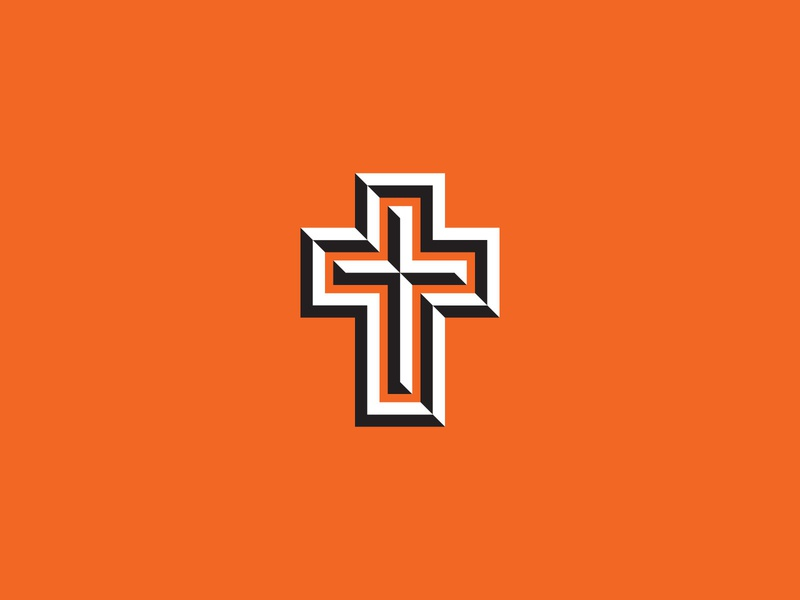 Happy Easter! cross easter vector illustration icon
