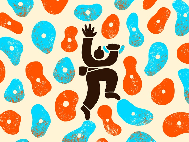 Climbin' texture climbing rock climbing design illustration