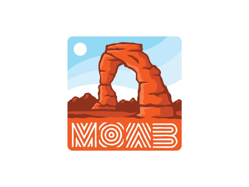 Moab Sticker 2 vector utah stickers moab illustrated type illustraion icon