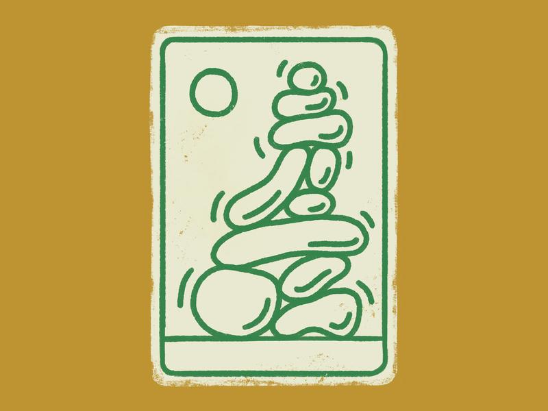 Cairn Illustration rocks iconography icon illustration cairn