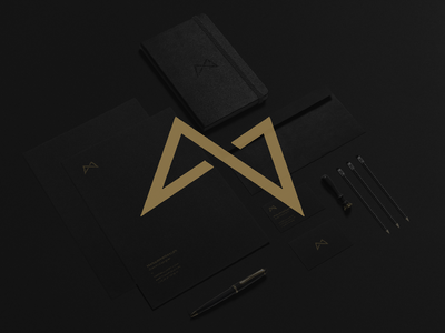 Logo update and Personal Branding. mark m monogram branding personal