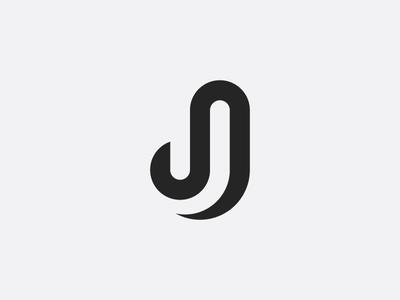 Letter J monogram mark letter geometric grid j monogram