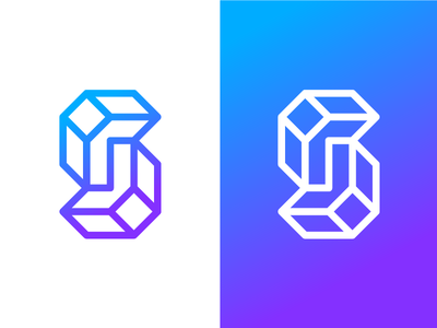Letter S Exploration s letter geometric solid intersect 3d planes monogram